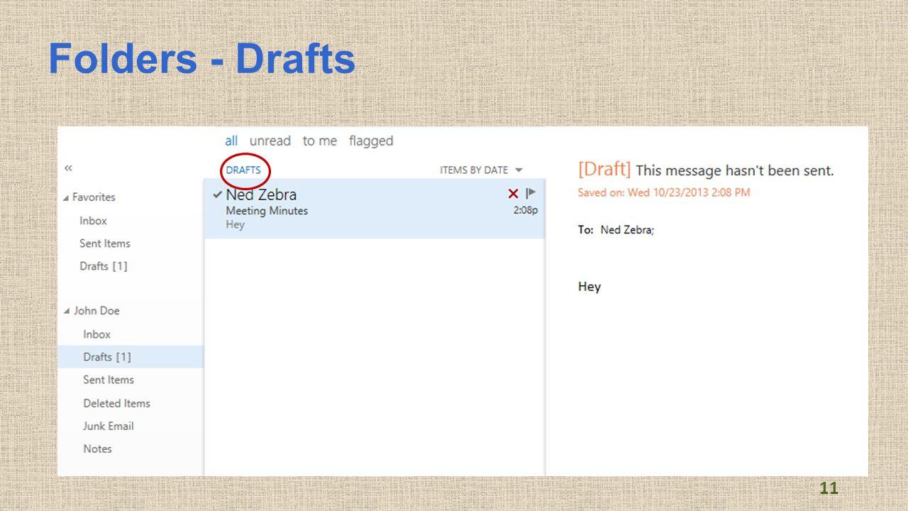 Folders - Drafts 11