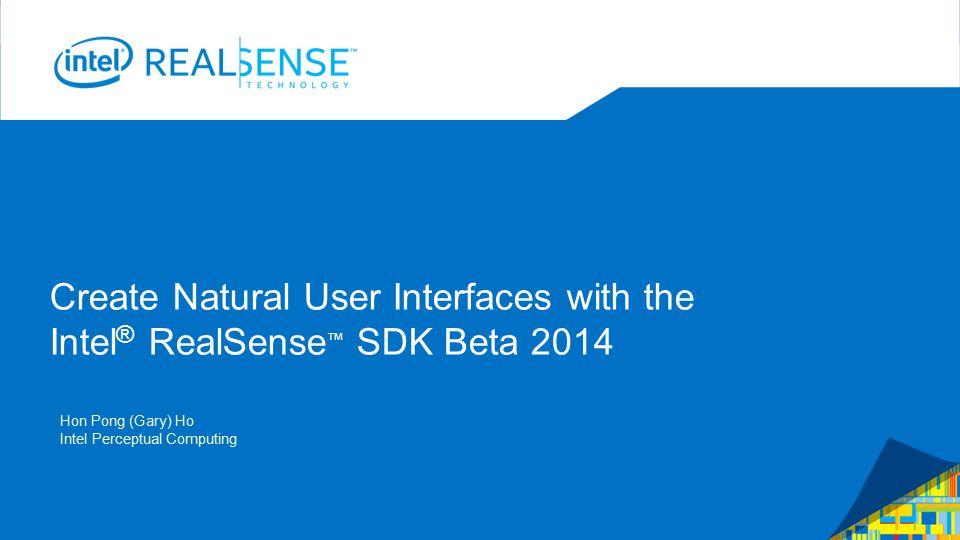 Contents: The Intel ® RealSense™ SDK for Windows beta What is Intel ® RealSense™ Technology.