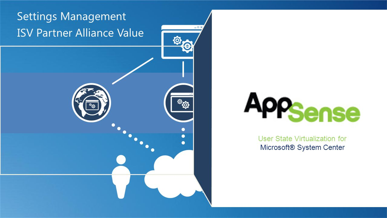 ISV Partner Alliance Value Settings Management User State Virtualization for Microsoft® System Center