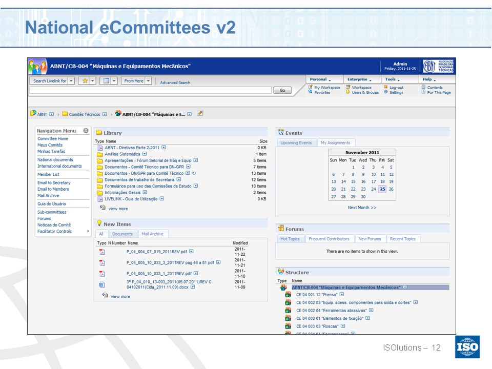 National eCommittees v2 ISOlutions –12
