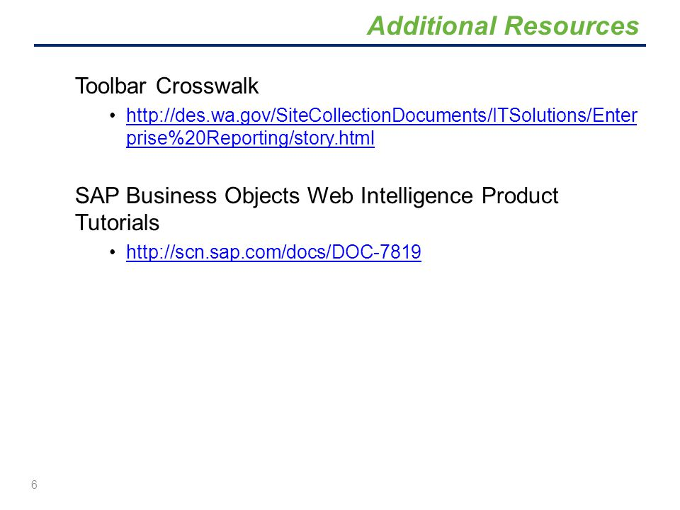 Toolbar Crosswalk http://des.wa.gov/SiteCollectionDocuments/ITSolutions/Enter prise%20Reporting/story.htmlhttp://des.wa.gov/SiteCollectionDocuments/IT