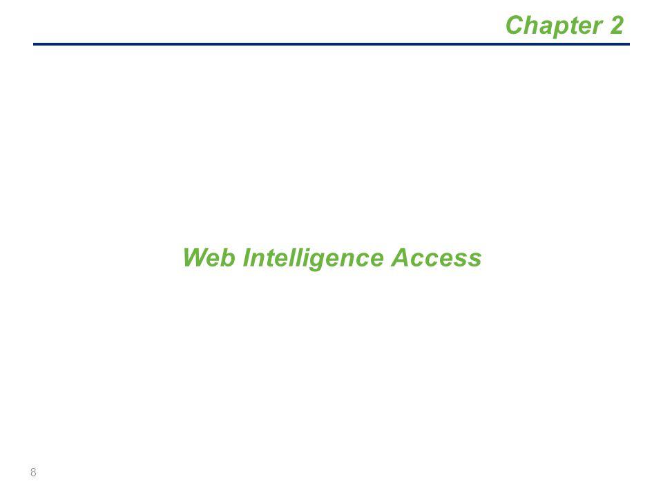 Web Intelligence Access 8 Chapter 2