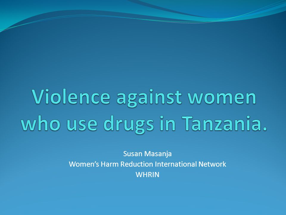 Susan Masanja Women's Harm Reduction International Network WHRIN