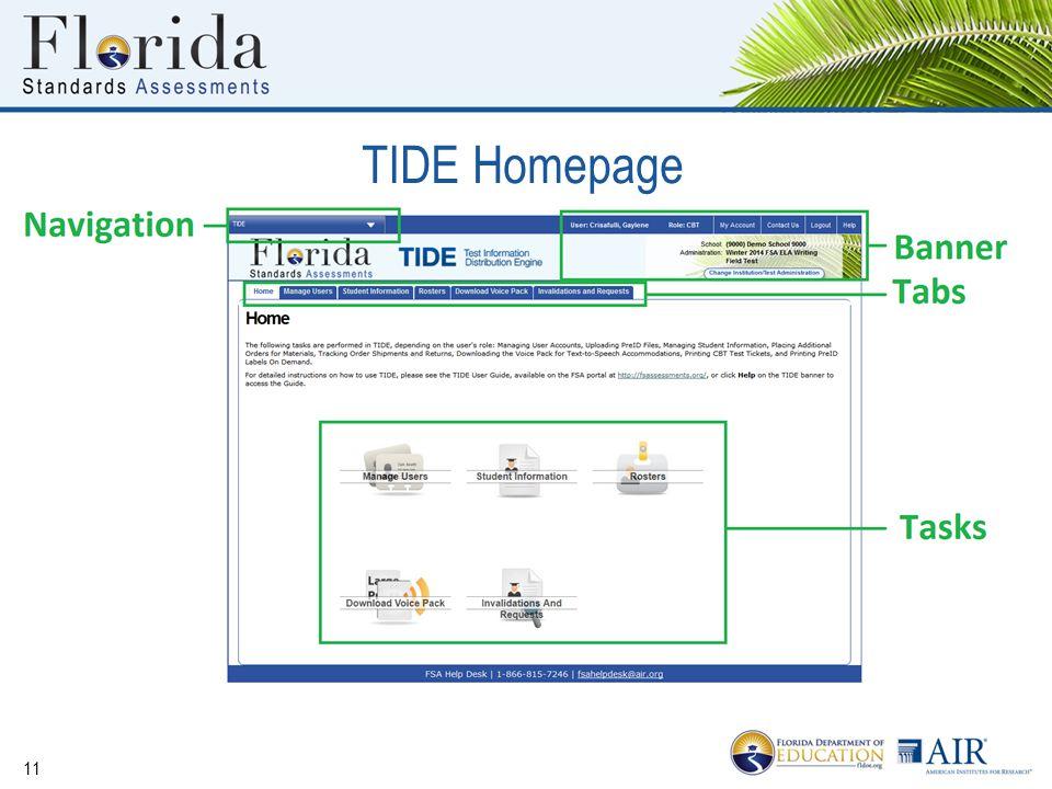 11 TIDE Homepage