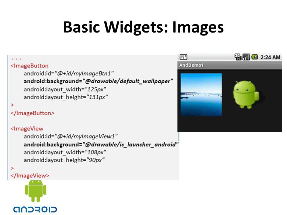 Basic Widgets: Images