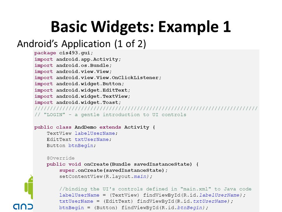 Android's Application (1 of 2)