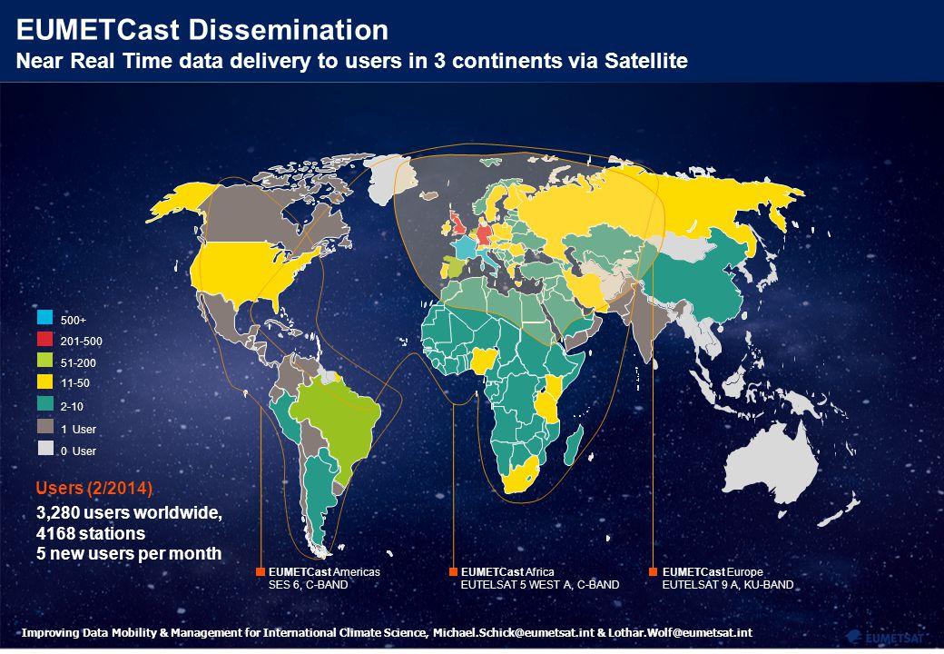 8 Improving Data Mobility & Management for International Climate Science, Michael.Schick@eumetsat.int & Lothar.Wolf@eumetsat.int EUMETCast Dissemination: Integrating terrestrial dissemination