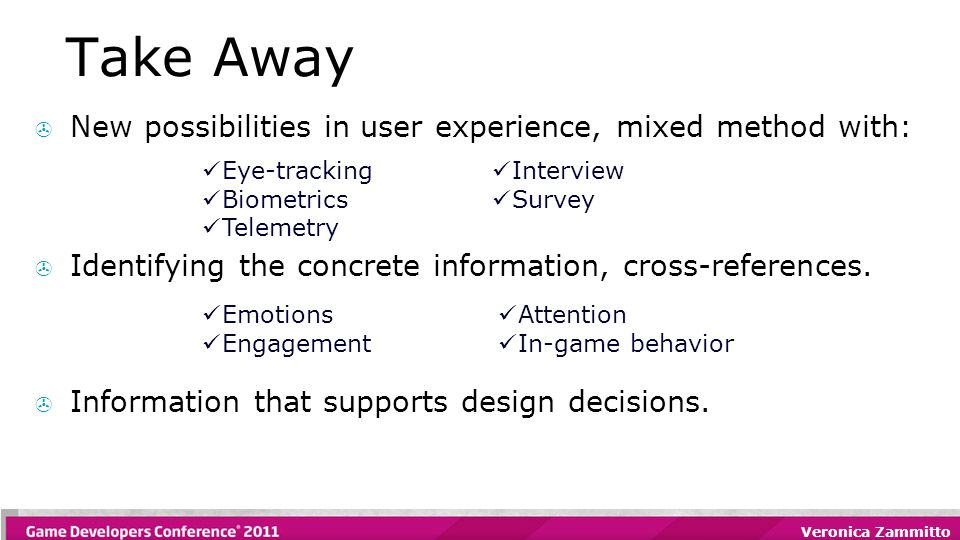 Take Away  New possibilities in user experience, mixed method with:  Identifying the concrete information, cross-references.