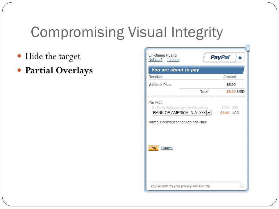 Ensuring visual integrity of pointer Remove cursor customization Freeze screen