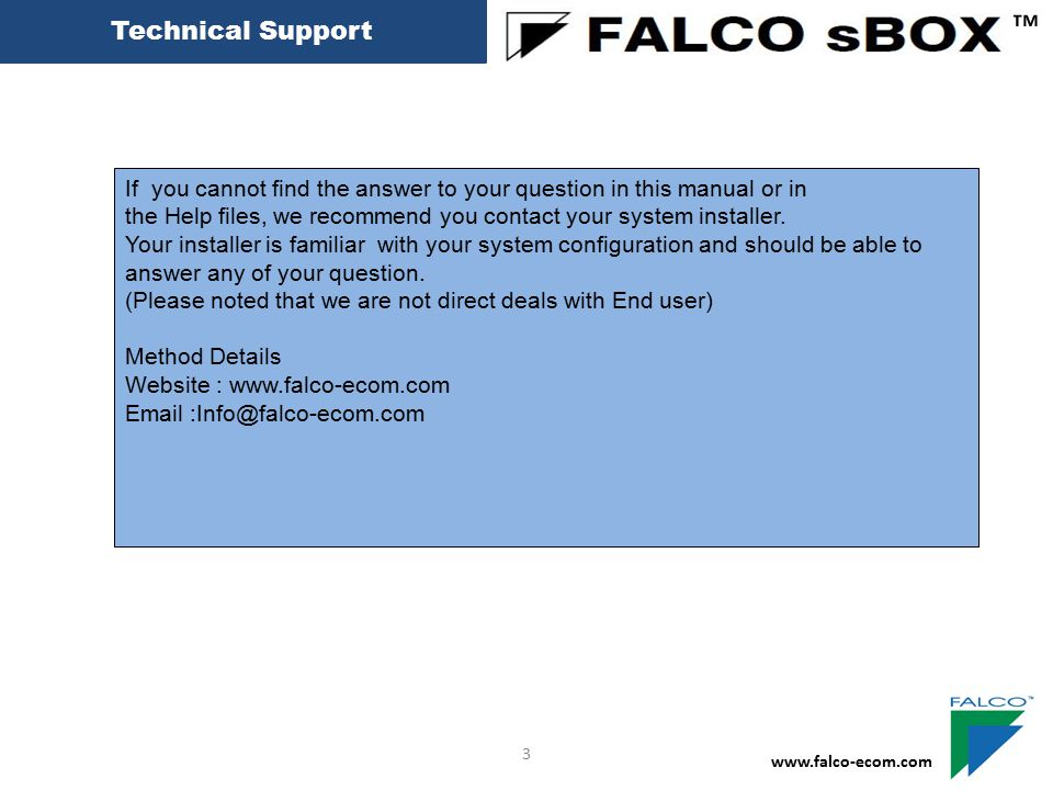 Access Card ™ www.falco-ecom.com 13 Card User Configuration