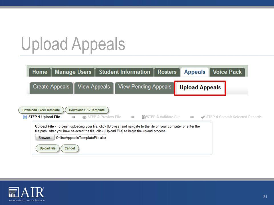 Upload Appeals 31