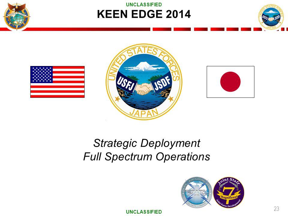 23 KEEN EDGE 2014 Strategic Deployment Full Spectrum Operations UNCLASSIFIED