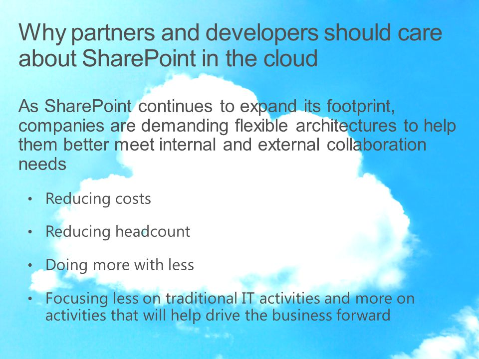As SharePoint continues to expand its footprint, companies are demanding flexible architectures to help them better meet internal and external collabo