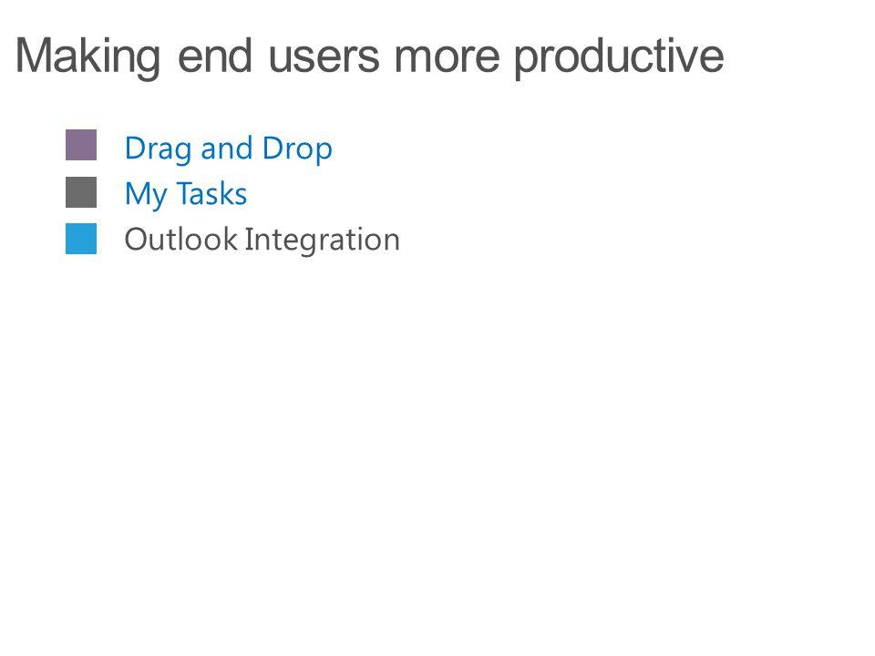 Drag and Drop My Tasks Outlook Integration