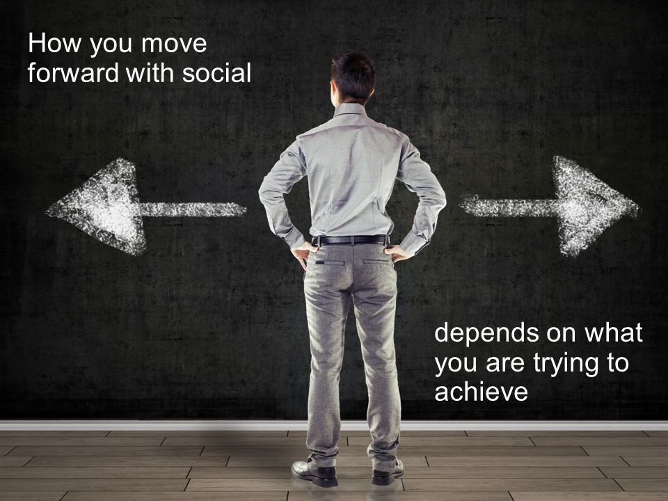 How you move forward with social depends on what you are trying to achieve