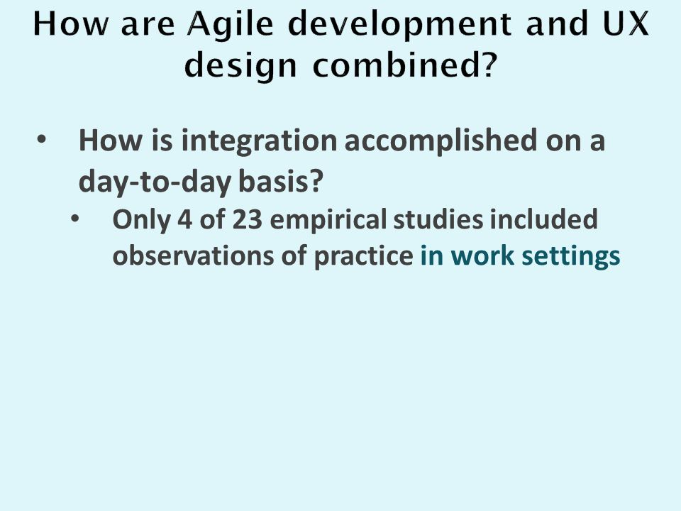 How is integration accomplished on a day-to-day basis.
