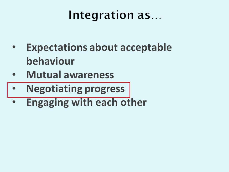 Expectations about acceptable behaviour Mutual awareness Negotiating progress Engaging with each other