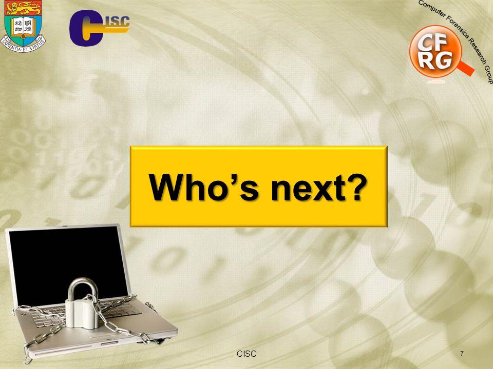 7 Who's next? CISC