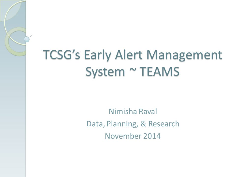 Nimisha Raval Data, Planning, & Research November 2014