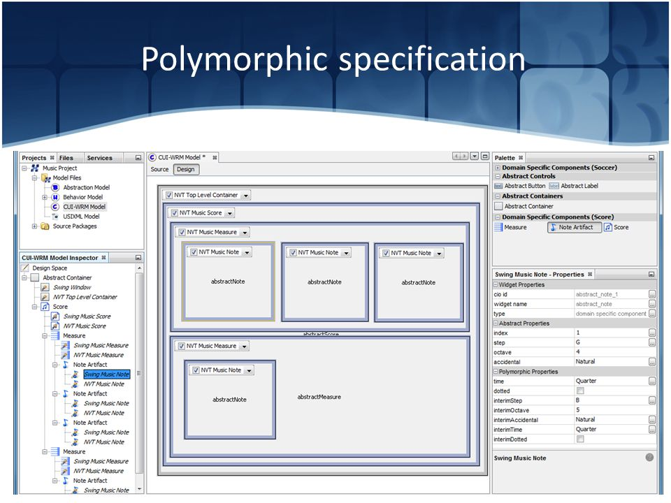 Polymorphic specification