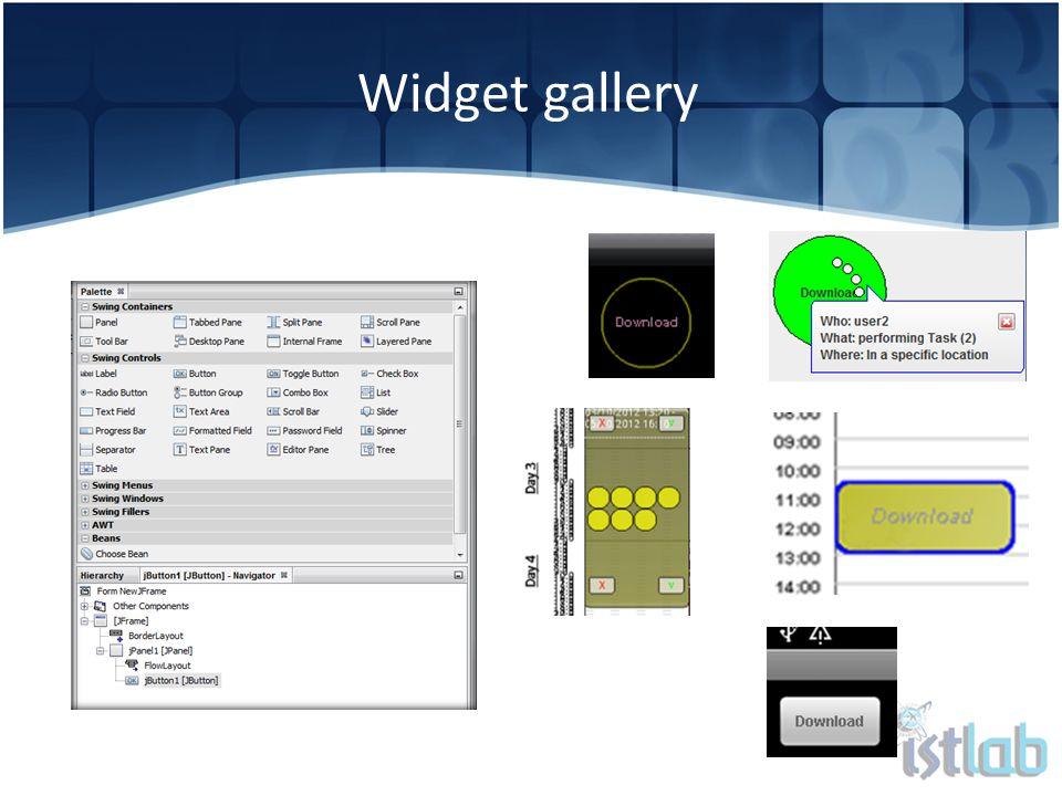 Widget gallery