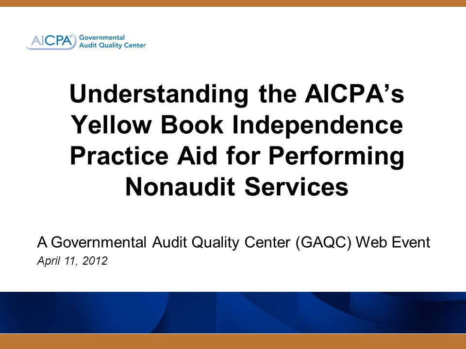 Governmental Audit Quality Center Chapter 3 – General Standards: Independence Threats could impair independence Do not necessarily result in an independence impairment Safeguards could mitigate threats Eliminate or reduce threats to an acceptable level 12