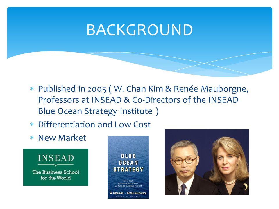  Published in 2005 ( W. Chan Kim & Renée Mauborgne, Professors at INSEAD & Co-Directors of the INSEAD Blue Ocean Strategy Institute )  Differentiati
