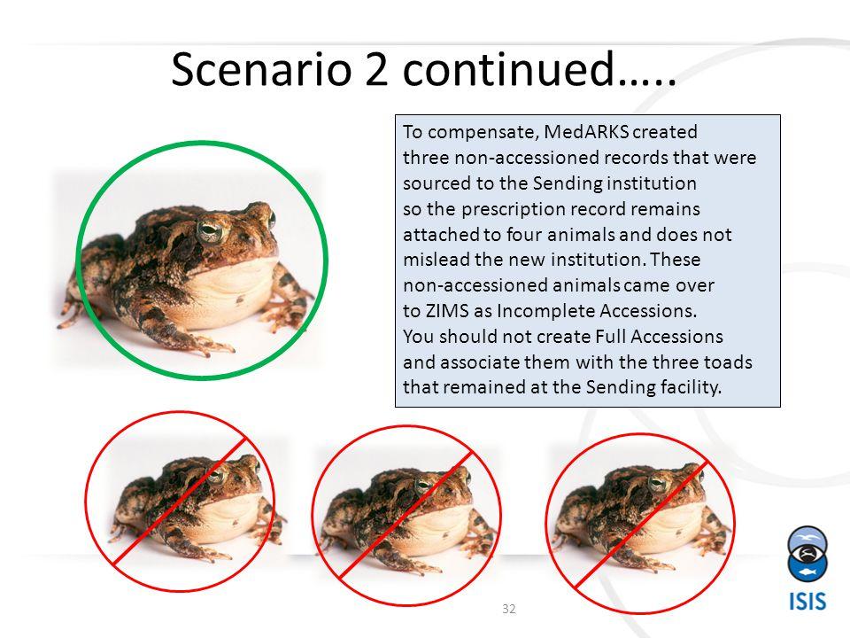 Scenario 2 continued…..