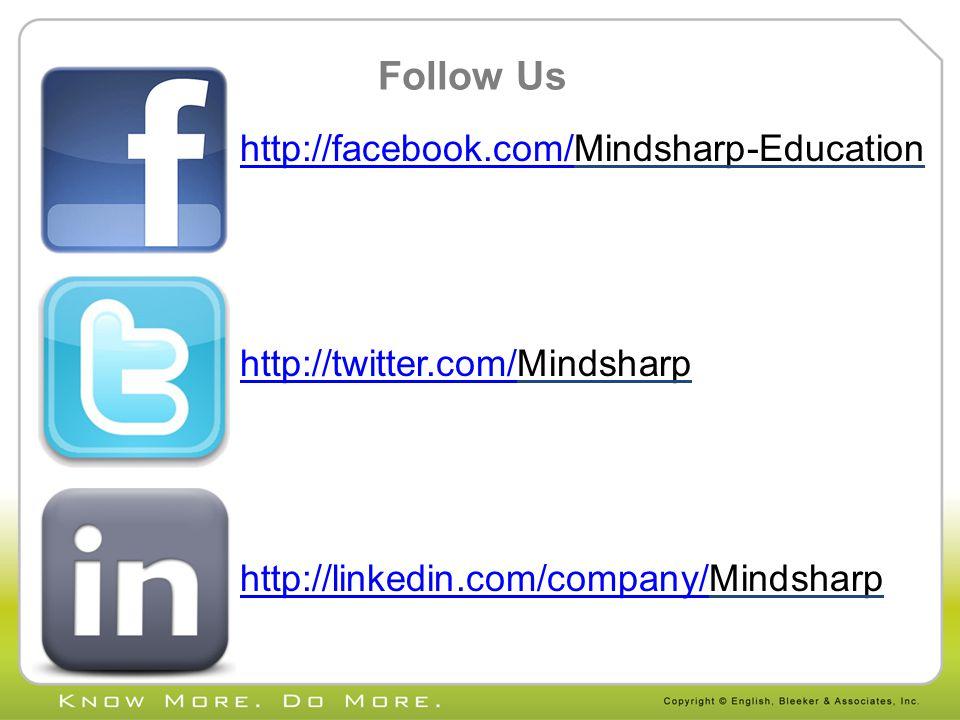 Follow Us http://facebook.com/http://facebook.com/Mindsharp-Education http://twitter.com/http://twitter.com/Mindsharp http://linkedin.com/company/http