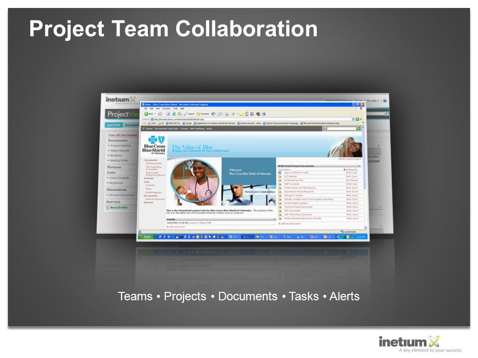 Project Team Collaboration Teams Projects Documents Tasks Alerts