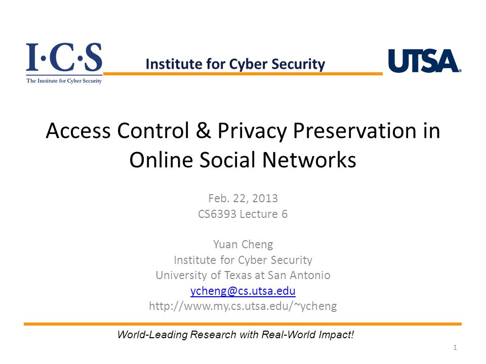 Access Control & Privacy Preservation in Online Social Networks Feb.