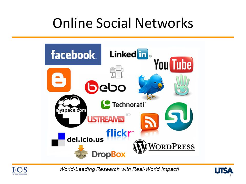 Online Social Networks 3 World-Leading Research with Real-World Impact!
