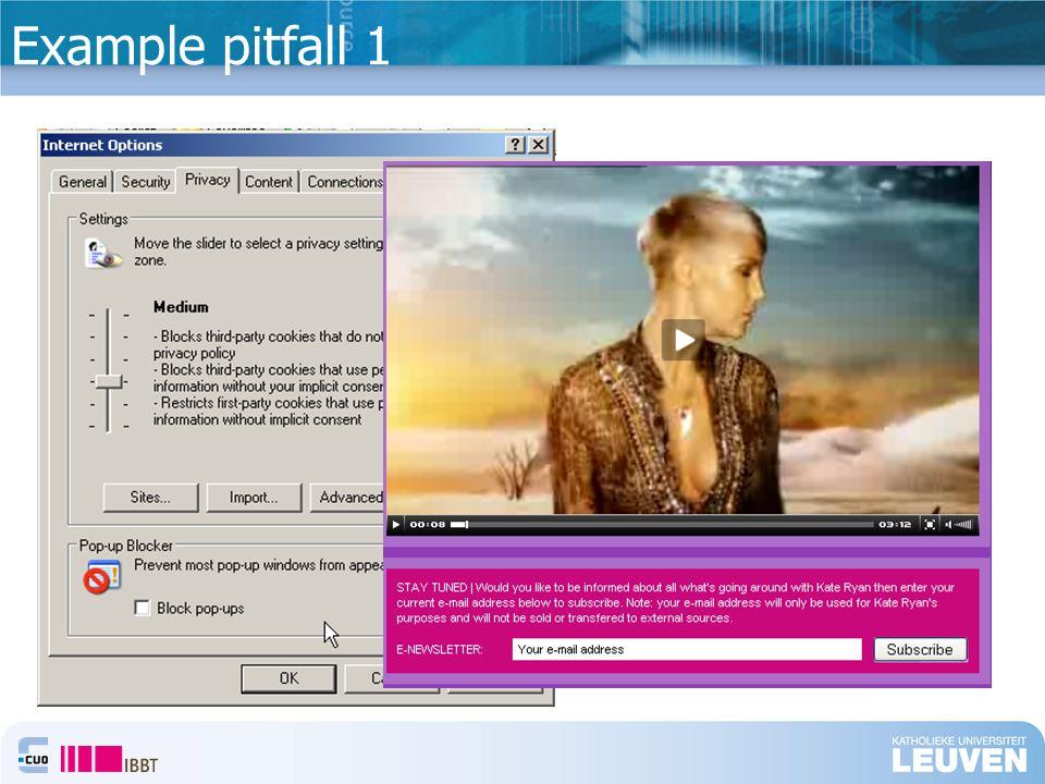 Example pitfall 1