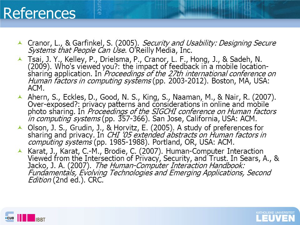 References Cranor, L., & Garfinkel, S. (2005).