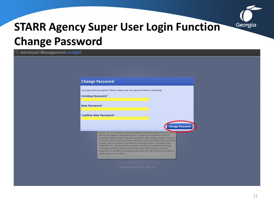 Agency Super User Login Access 10 STARR URL: http://ami.compaid.com/AMI_GTA_STARR Please Read Disclaimer Statement