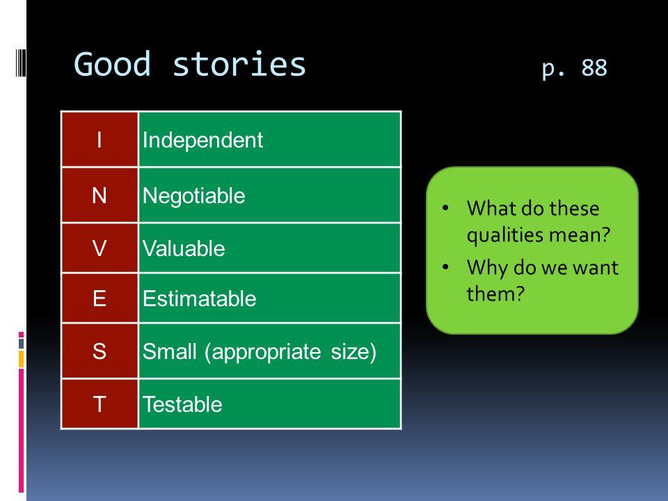 Good stories p.