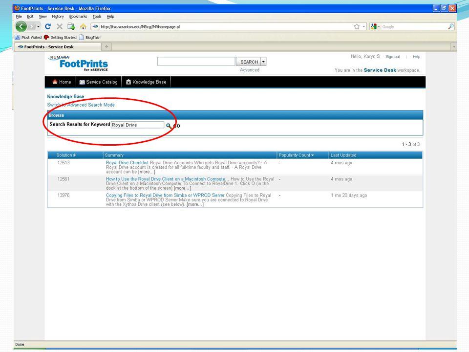 FootPrints End User Interface Ppt Video Online Download - Footprints help desk software