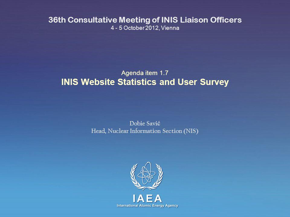 IAEA INIS Website User Survey Thank you! 22