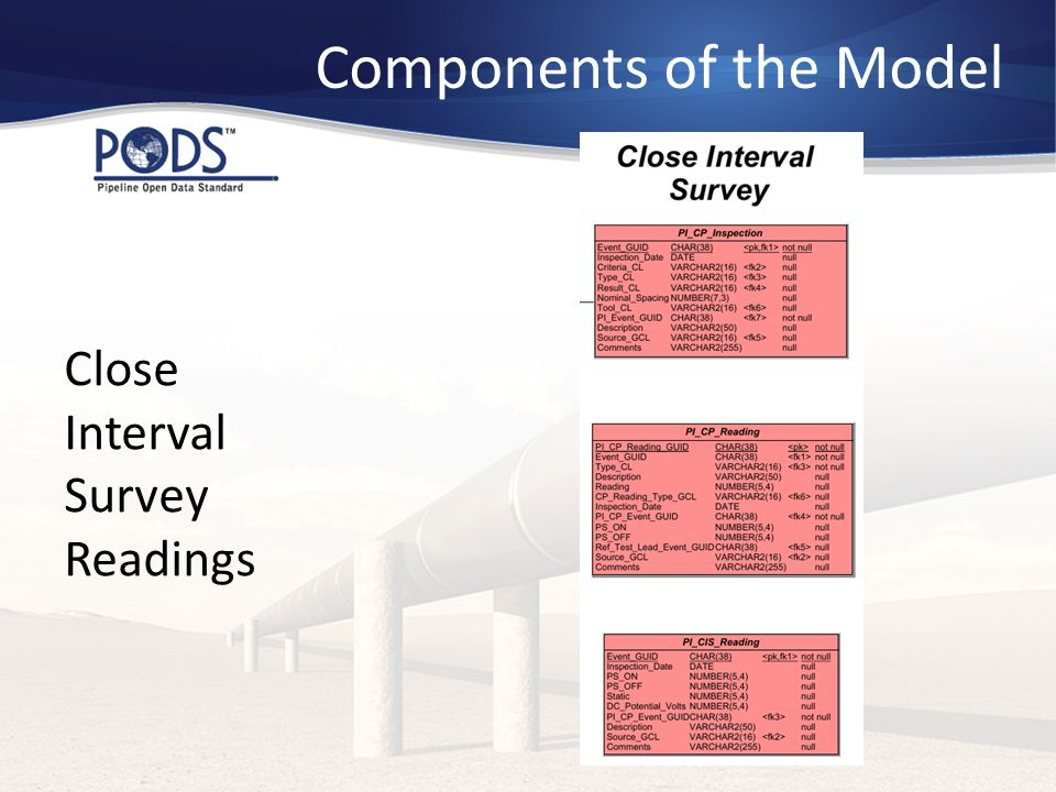 Components of the Model Close Interval Survey Readings