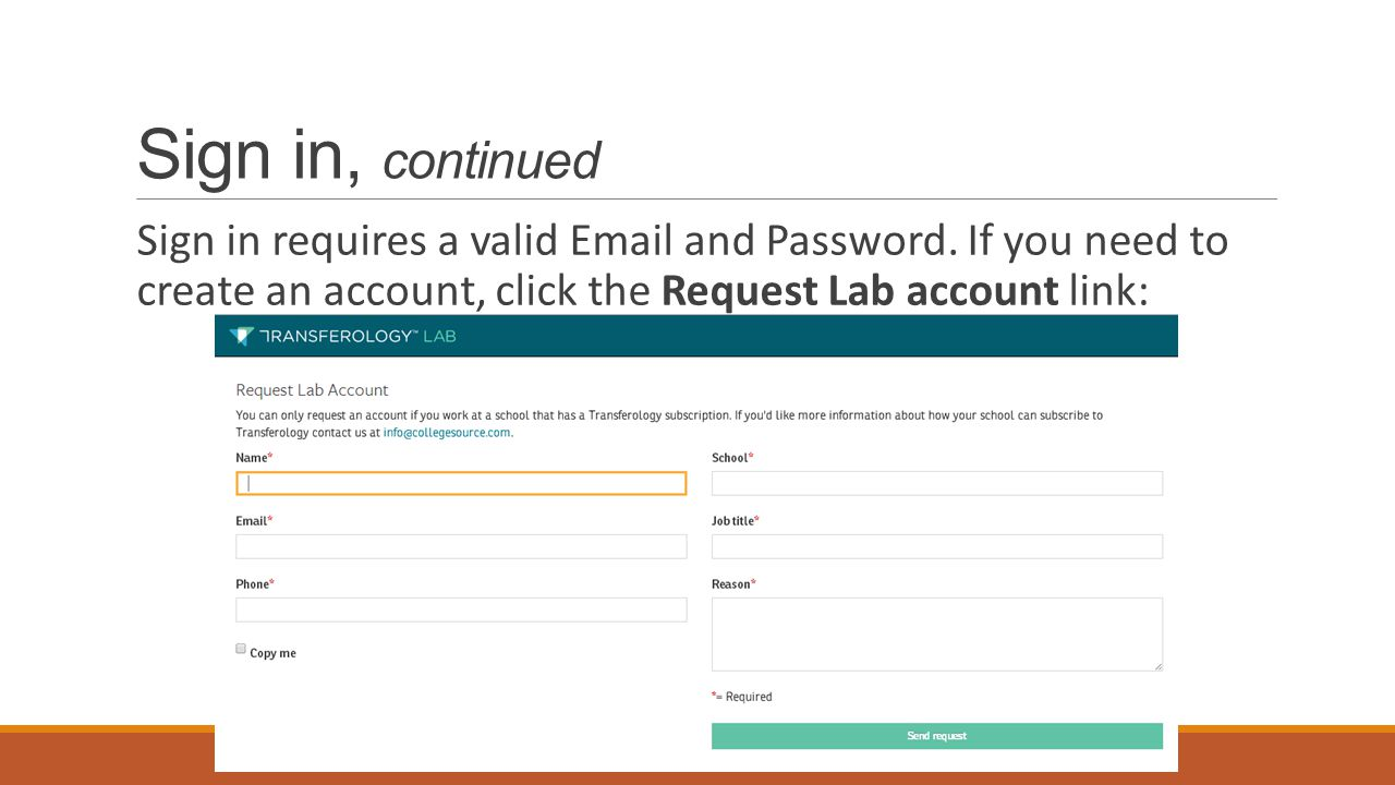 Sign in, continued If you forgot your password or experience other difficulties signing in, click the Can t sign in.