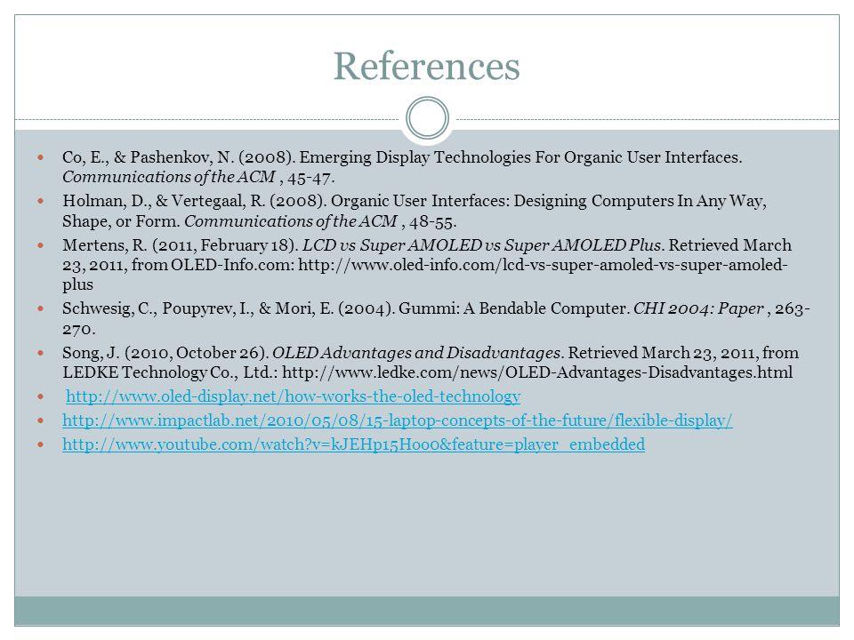 References Co, E., & Pashenkov, N. (2008).