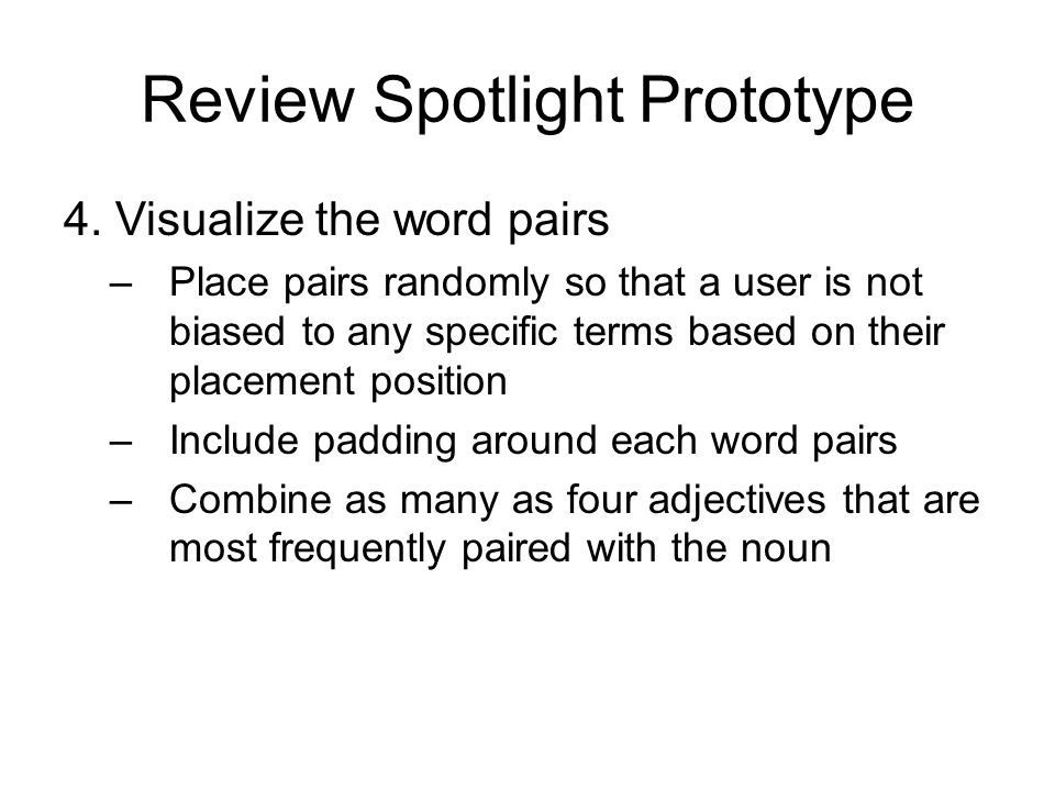 Review Spotlight Prototype 4.