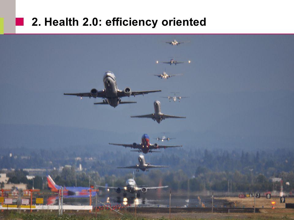 2. Health 2.0: efficiency oriented  Efficiency oriented 13
