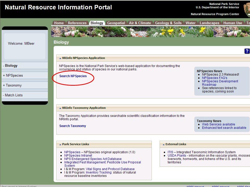 Natural Resource Program Center Inventory & Monitoring Program