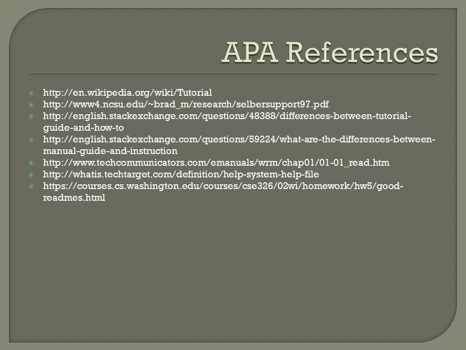  http://en.wikipedia.org/wiki/Tutorial  http://www4.ncsu.edu/~brad_m/research/selbersupport97.pdf  http://english.stackexchange.com/questions/48388