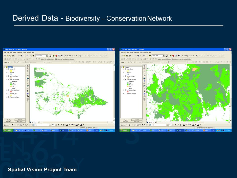 Spatial Vision Project Team Derived Data - Biodiversity – Conservation Network