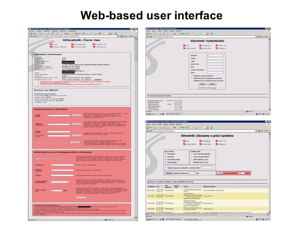 Web-based user interface
