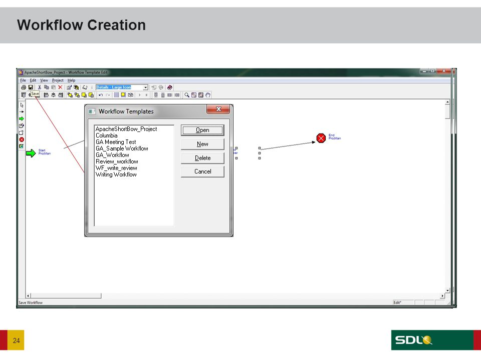 Workflow Creation 24 Click click Enter Name Click OK Click on Writing Step to select and then drag cursor to area on page to place Writing step now ex