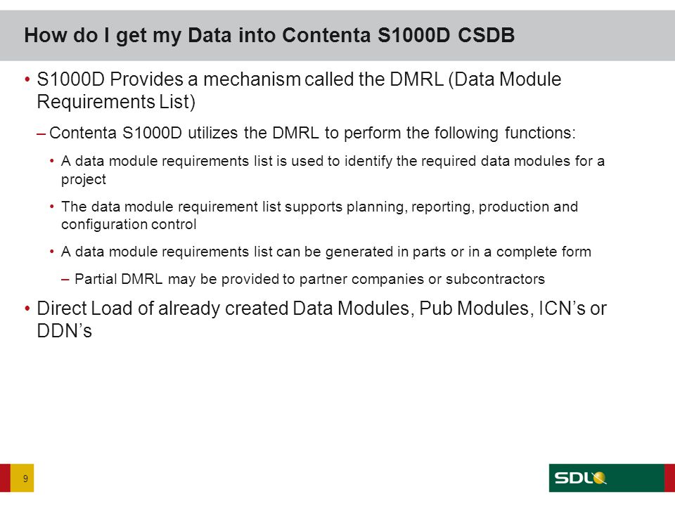 SDL has created two ways for your company to create and manage DMRL files.