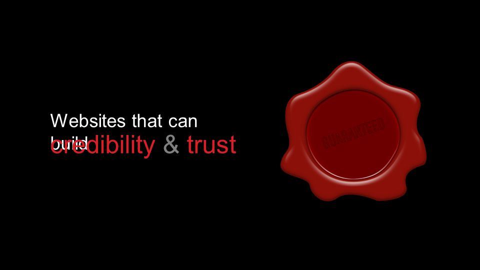 Websites that can build credibility & trust
